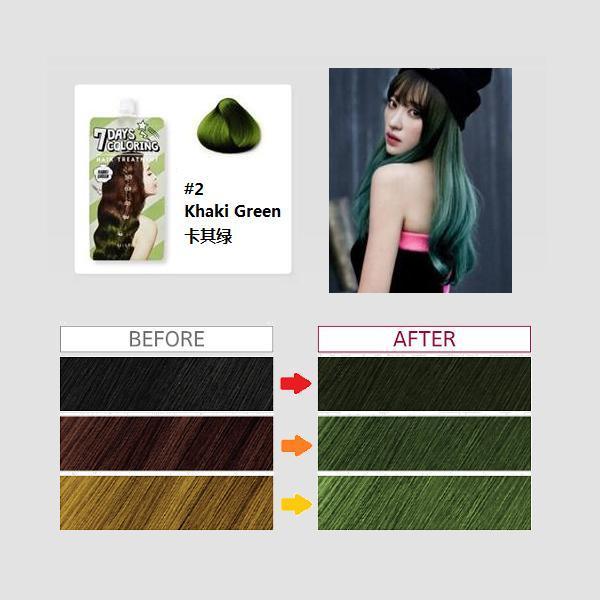 Thuốc Nhuộm Tóc 7 Ngày Missha 7 Days Coloring Hair Treatment 25ml # Khaki Green tốt nhất