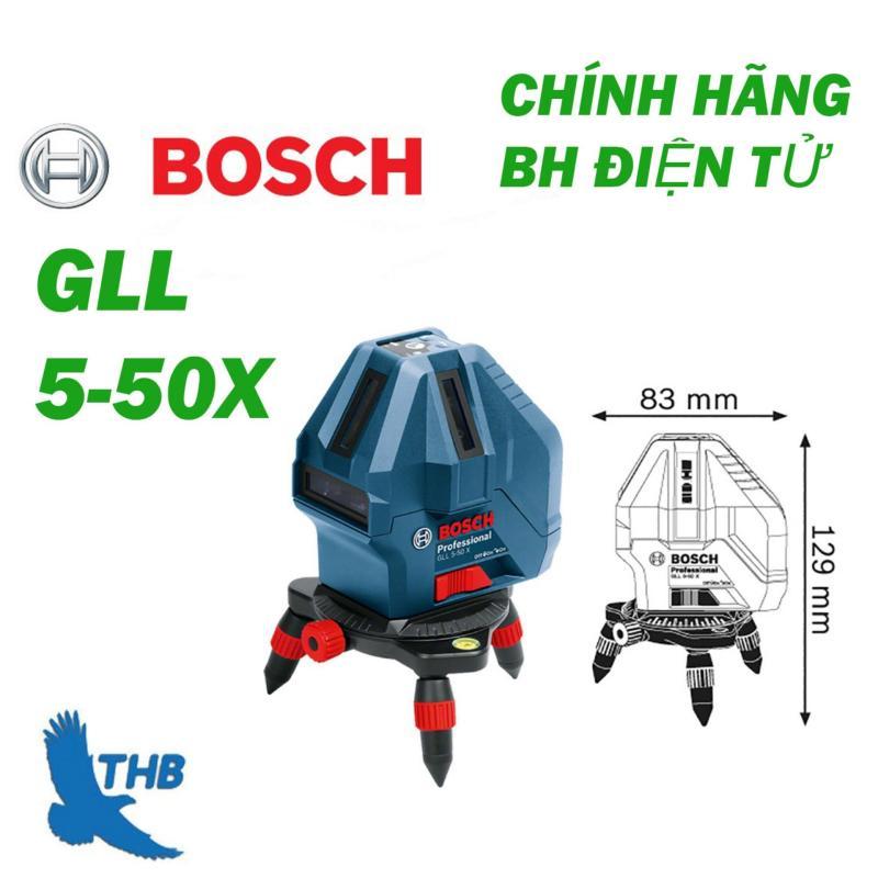 Máy cân bằng Laser 4 tia dọc, 1 tia ngang Bosch GLL5-50X