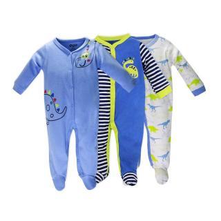 Set 3 Bộ Body Dài Tay Liền Tất Baby Gear Hàng Xuất Dư Đẹp Cho Bé Trai thumbnail