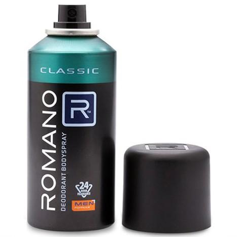 Xịt khử mùi Romano Classic Cổ điển chai 150ml