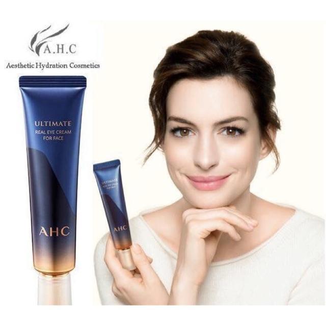Kem Chống Nhăn Trị Thâm Mắt AHC Ultimate Real Eye Cream For Face 12ml