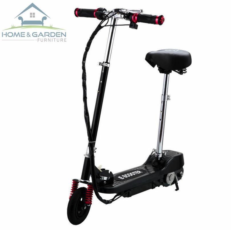Xe scooter điện thể thao 120W, tốc độ tối đa 15km/h, tải trọng 75kg (Đen)