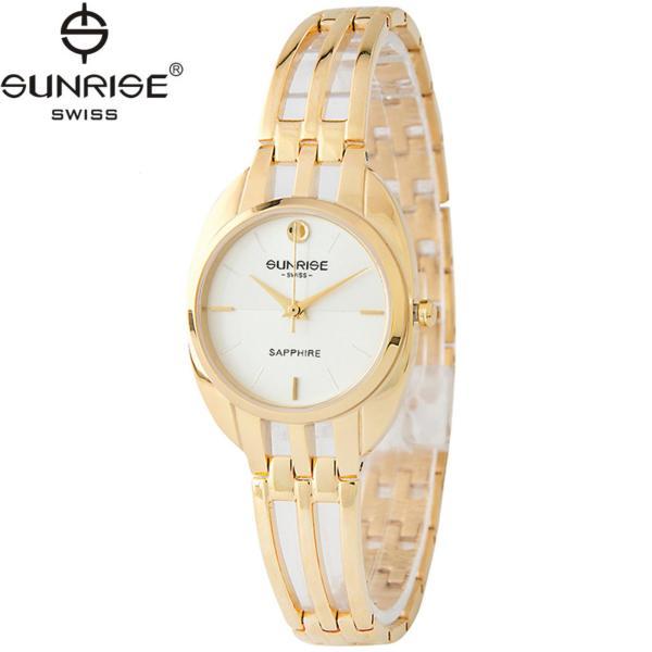 Đồng hồ nữ dây kim loại mặt kính sapphire chống xước Sunrise SL9938LK