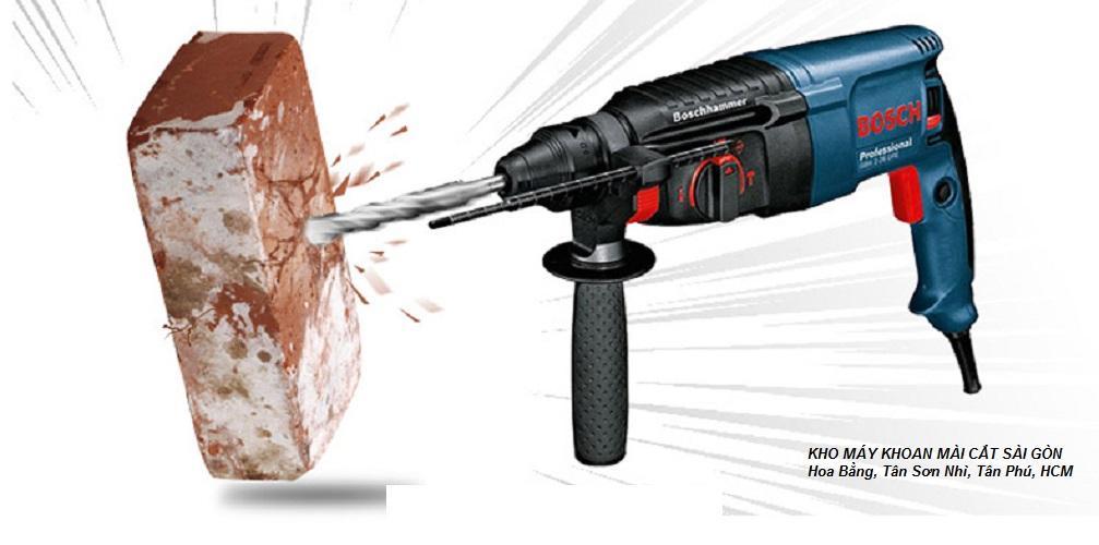 Máy khoan bê tông Boss GBH 2-26 DRE (800W)-  khoan gỗ, Khoan bê tông, Khoan kim loại, Đảo chiều, Điều tốc vô cấp