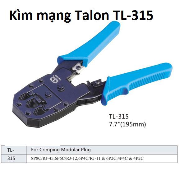 Kim Bấm Mạng Đa Năng Talon Tl 315 Đen Talon Chiết Khấu