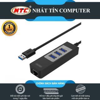 Bộ chia USB 3.0 ra 3 cổng USB 3.0 with Lan Gigabit Unitek Y-3045C (Đen) - Hãng phân phối chính thức - Nhất Tín Computer thumbnail