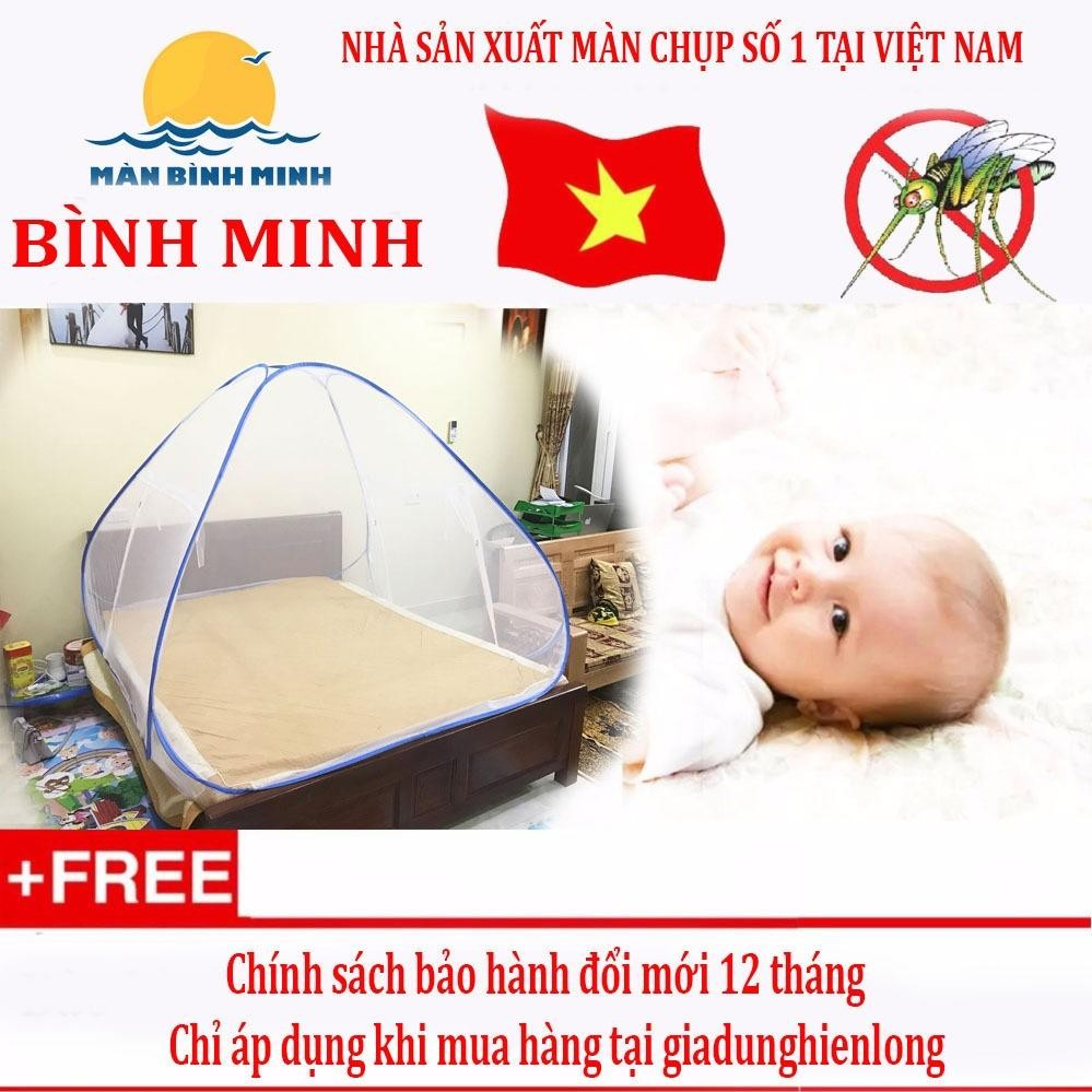 Mua Man Chụp Chống Muỗi Tự Bung Tiện Dụng Loại 1 Cửa 1M6 X 2M Sieu Bền Hang Việt Nam Màn Chụp Bình Minh Rẻ