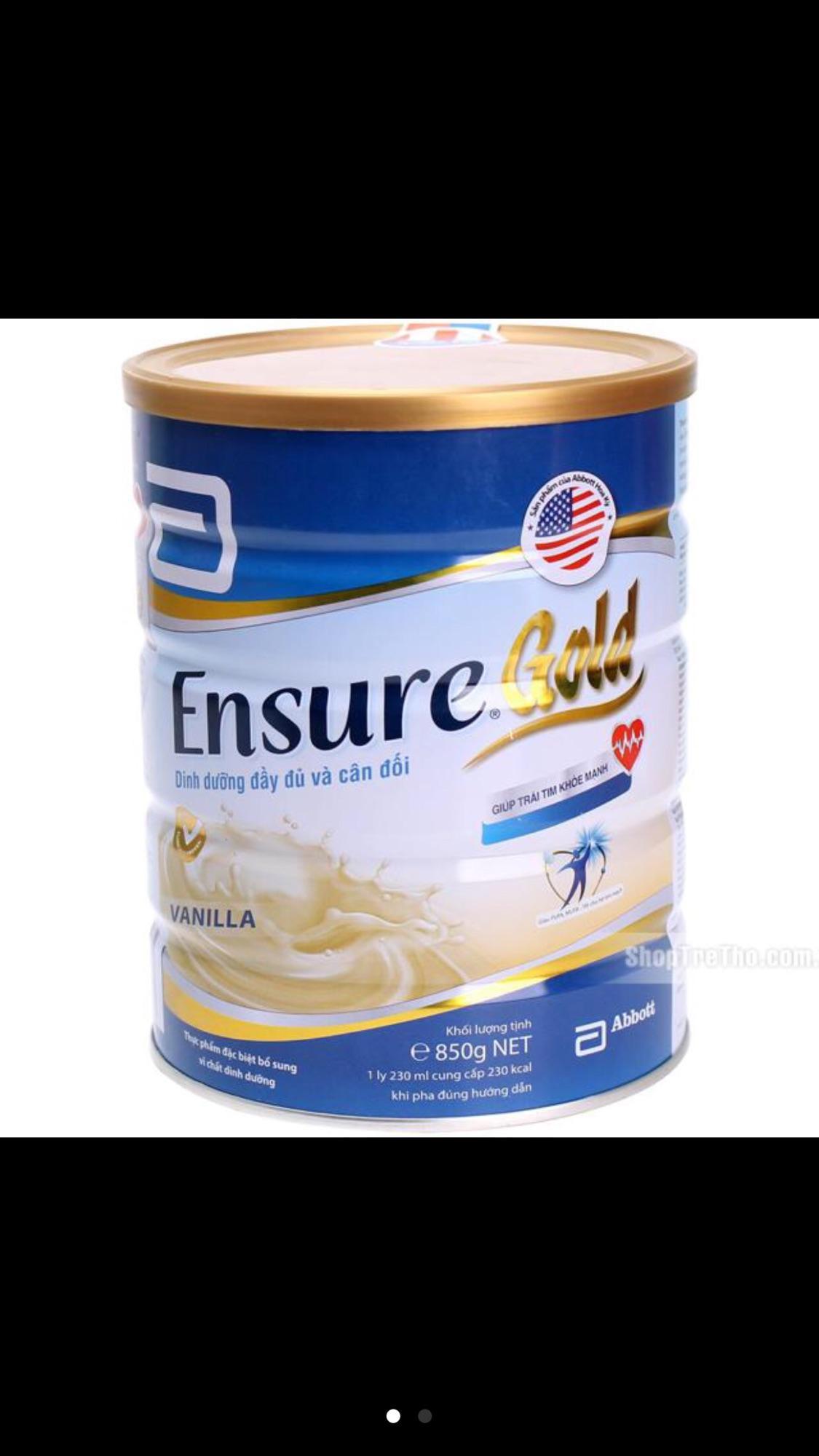 Sữa ensure gold hương vani lon 400g