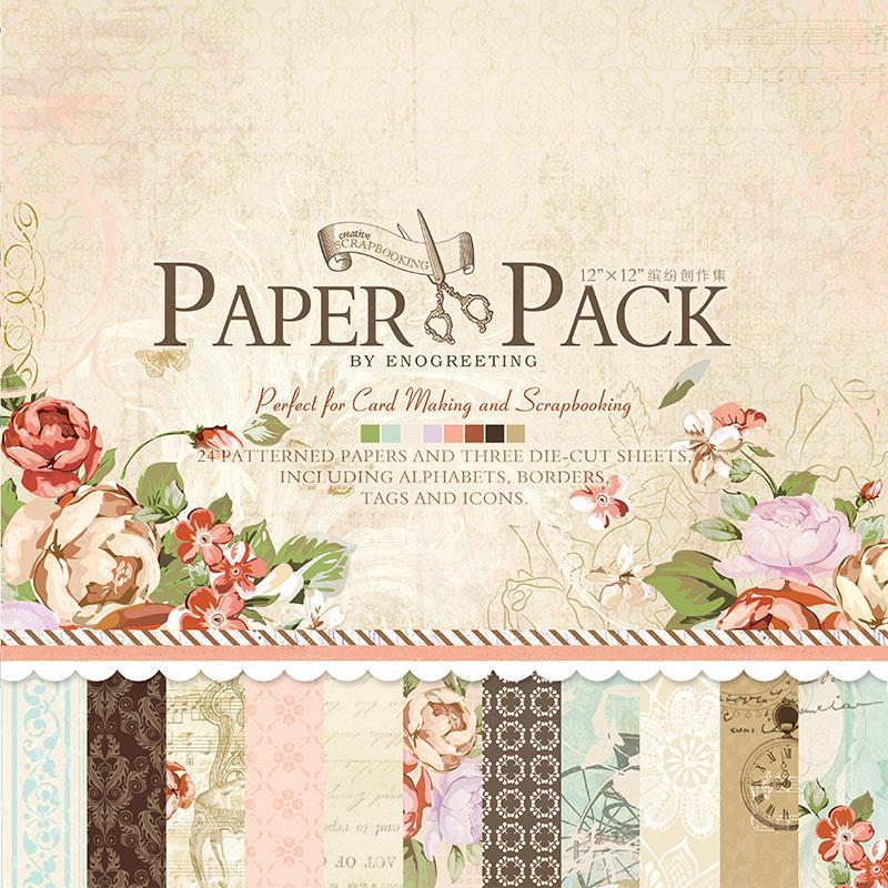 Mua PAPER PACK - GIẤY SCRAPBOOK HOA HỒNG V3 (12x12 INCH & STICKER) _GHM80