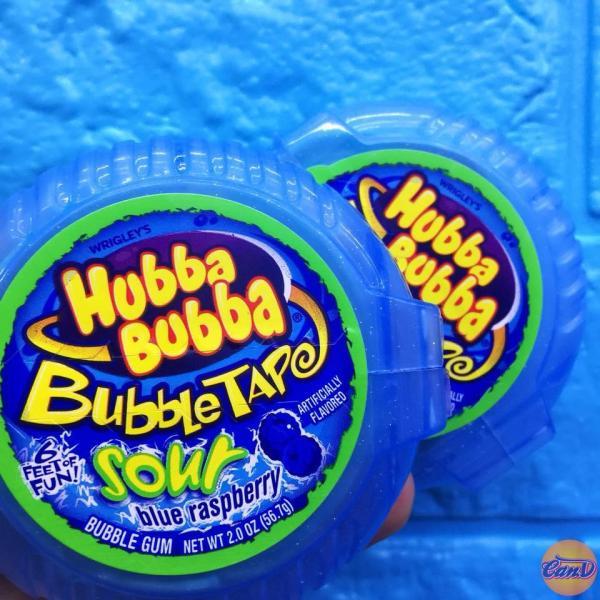 Singum cuộn siêu dài Hubba Bubba vị Blue Raspberry