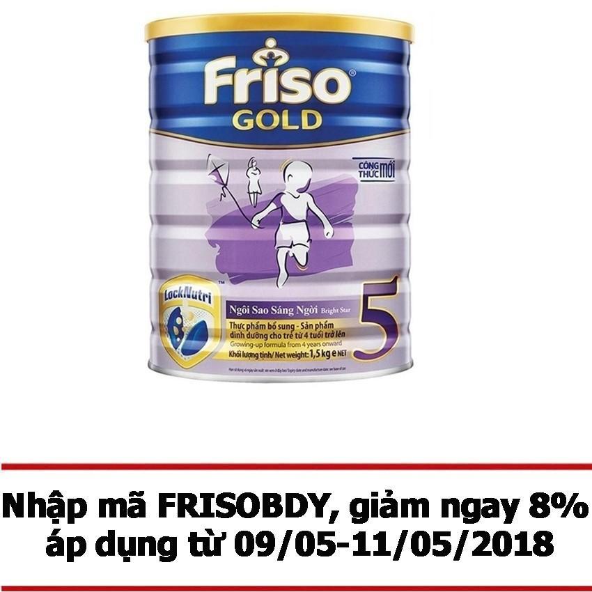 Giá Bán Sữa Bột Friso Gold 5 1500G Friso Mới