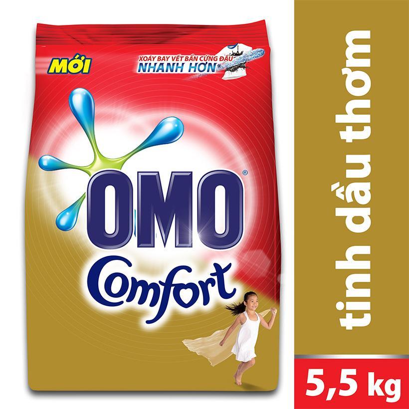 Bột Giặt Omo Comfort Tinh Dầu Thơm Tinh Tế 5,5kg Giảm Cực Sốc