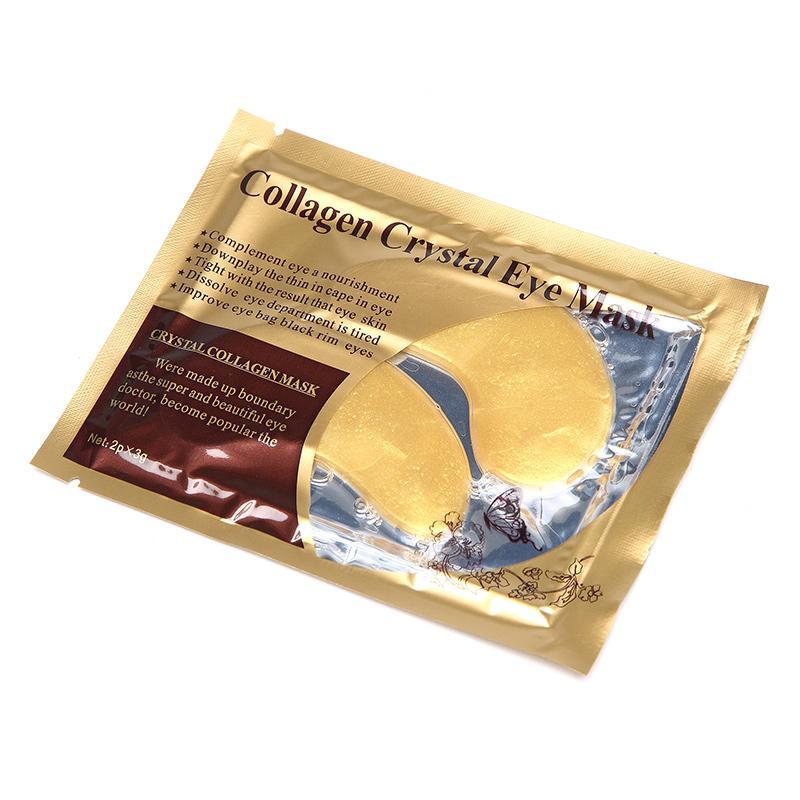 Hình ảnh Combo 10 miếng mặt nạ mắt Crystal Collagen Gold