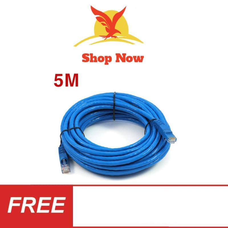 Bảng giá Dây Cáp mạng internet/ LAN S-N 2 đầu đúc sẵn 5M loại tốt Phong Vũ
