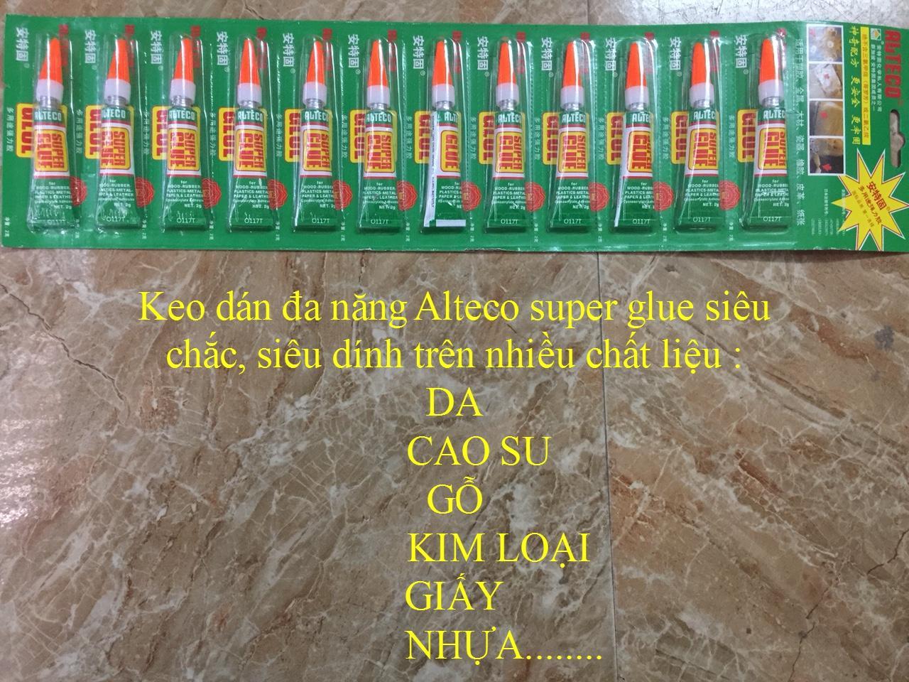 Mua Vỉ 12 tuýp keo dán đa năng Alteco siêu dính