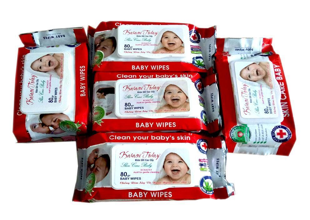 Mã Tiết Kiệm Để Mua Sắm 12 Gói Khăn Ướt Baby Wipes 80gr