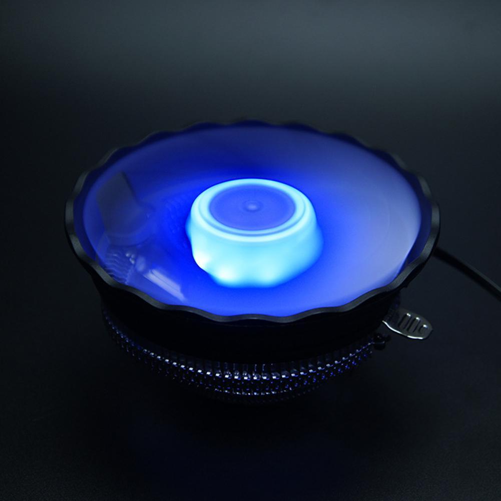 Hình ảnh Silent Fan LED Quạt Tản Nhiệt CPU Tản Nhiệt Nhôm cho Inetl775/1155AMD