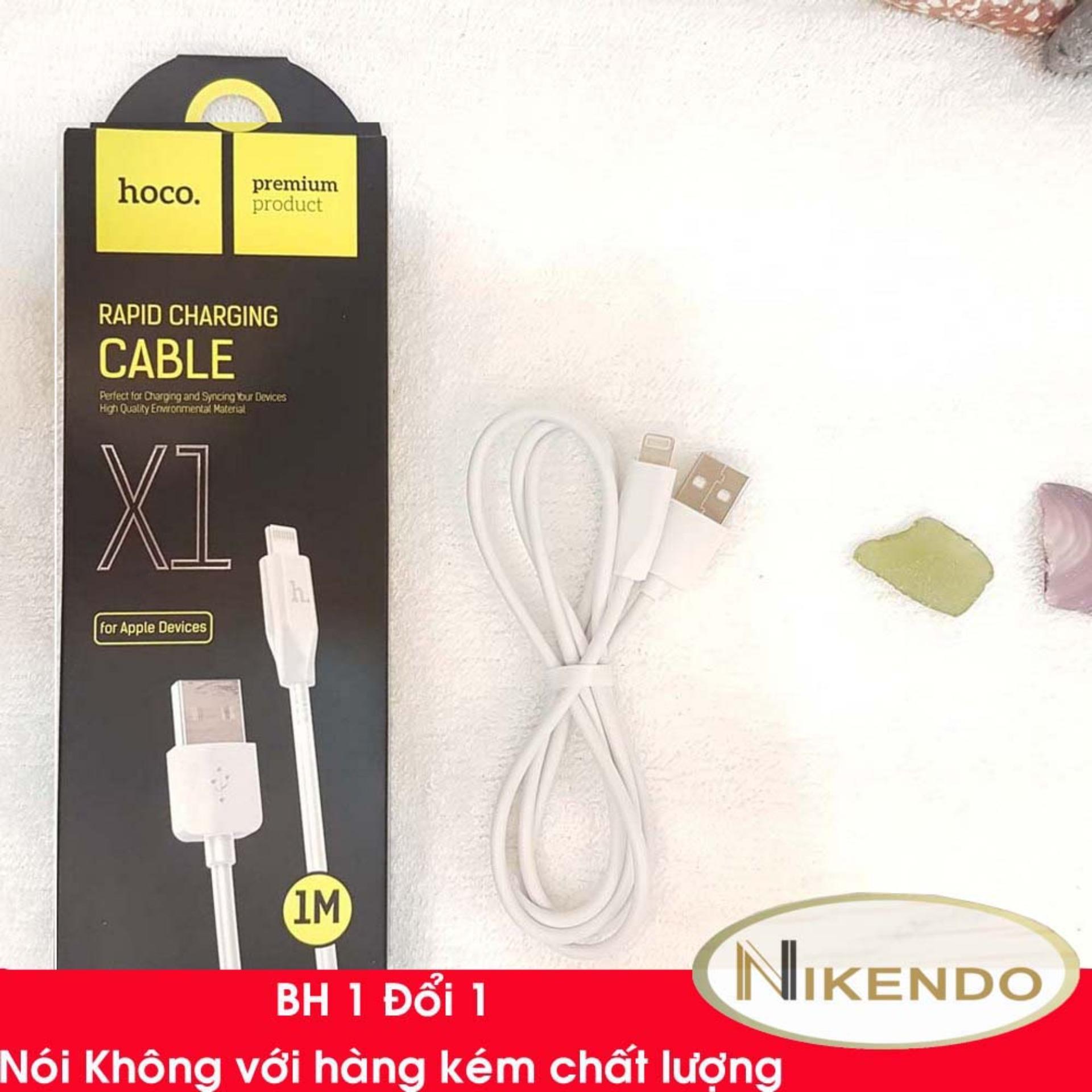Hình ảnh Dây Cáp Sạc 1m Hoco X1 Dùng cổng Lightning Cho ĐT iPhone 5,6,7