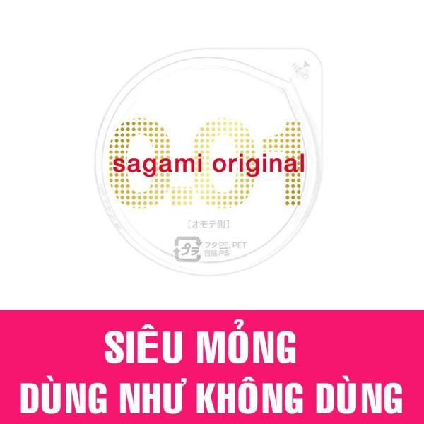 Hộp 1 cái Bao Cao Su Cực Siêu mỏng Sagami 0.01