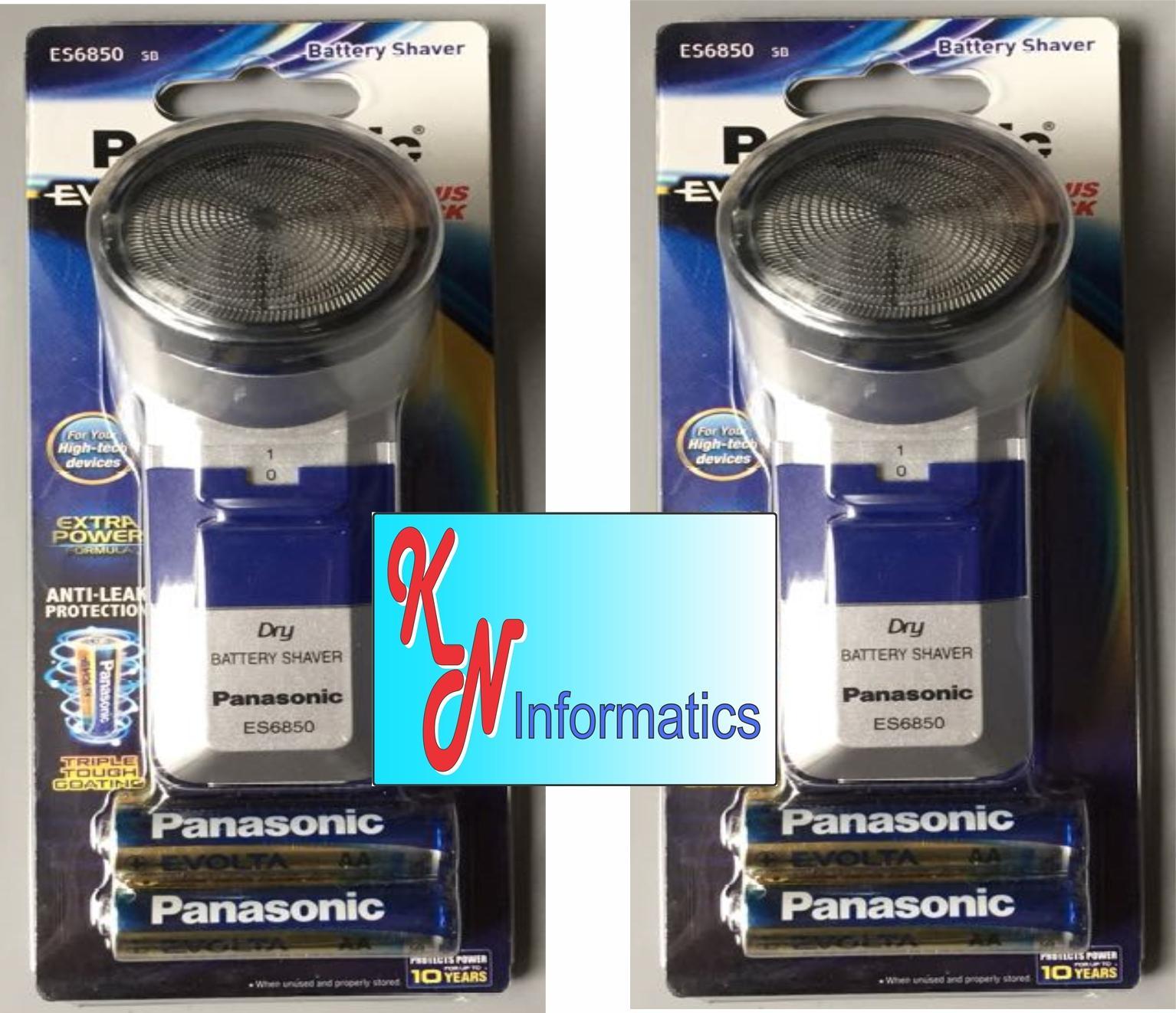 Bộ 2 Máy cạo râu dùng pin Panasonic ES6850 (mỗi máy tặng kèm 2 pin AA cao cấp trị giá 45.000) - Made in ThaiLand