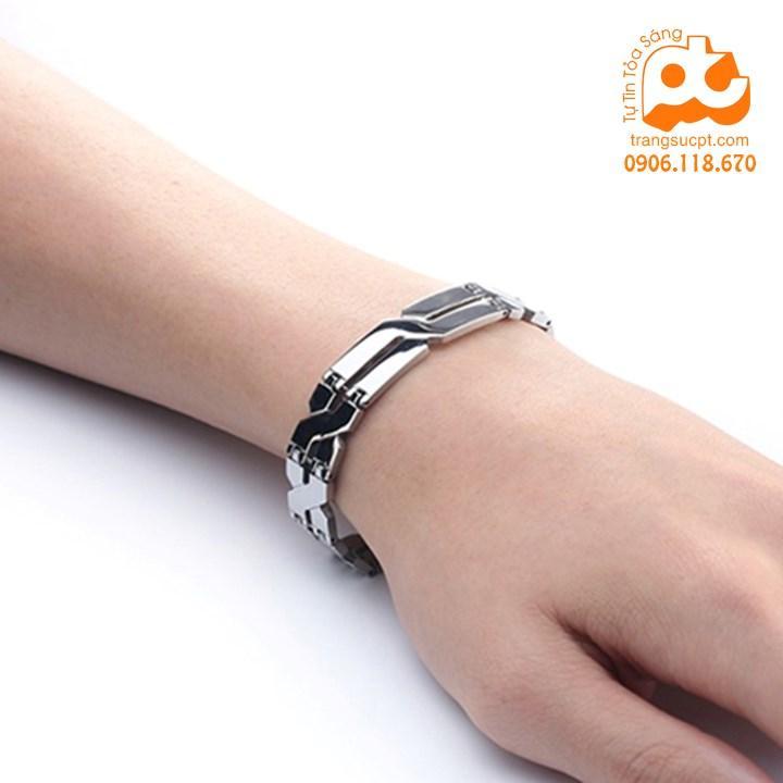 Lắc tay nam inox cao cấp phong cách rẻ đẹp không đen HCM 103 Nhật Bản