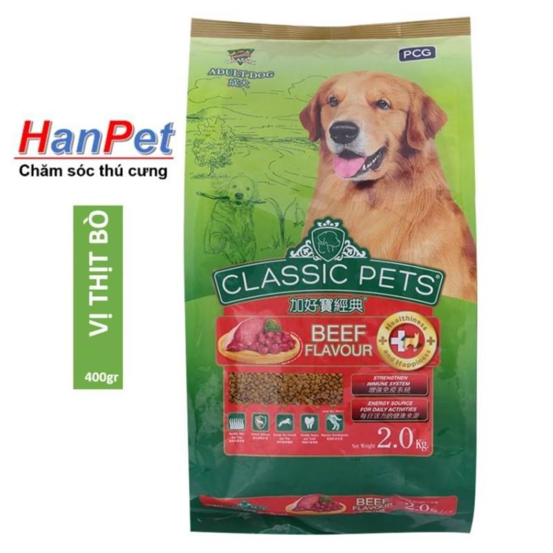 HCM -(COMBO 10 gói mỗi gói 400gr) Thức ăn cho chó CLASSIC PETS (thức ăn khô cho mọi loại chó trên 10kg) HP10291TC thức ăn hạt cho chó