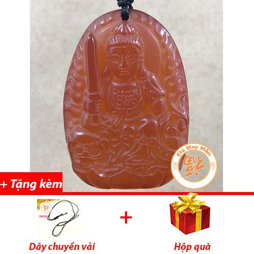 Mặt Dây Chuyền Phật Bản Mệnh Văn Thù Bồ Tát Mã Não Đỏ