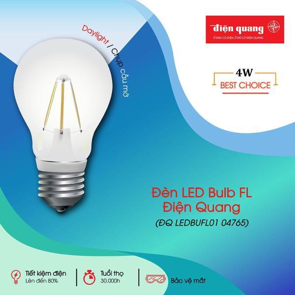 Đèn LED Bulb FL ĐQ LEDBUFL01 (4W, Daylight, Chụp Mờ)