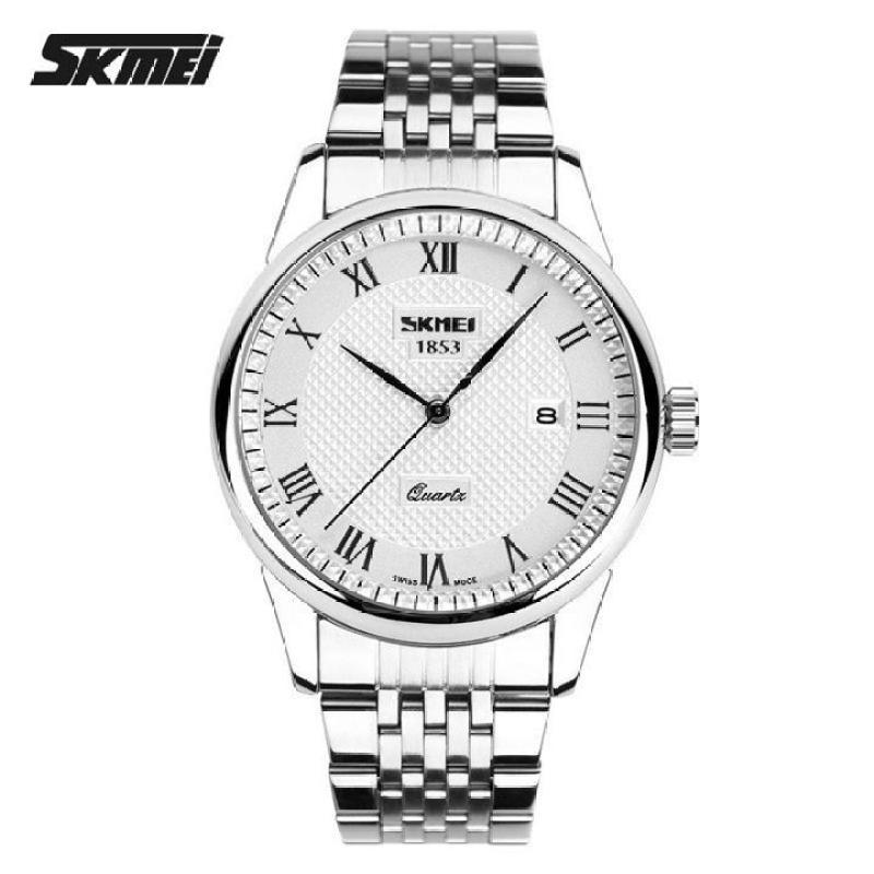 [SIÊU KHUYẾN MẠI]-Tặng vòng phong thủy 150K khi mua Đồng hồ nam dây kim loại Skmei KR9058