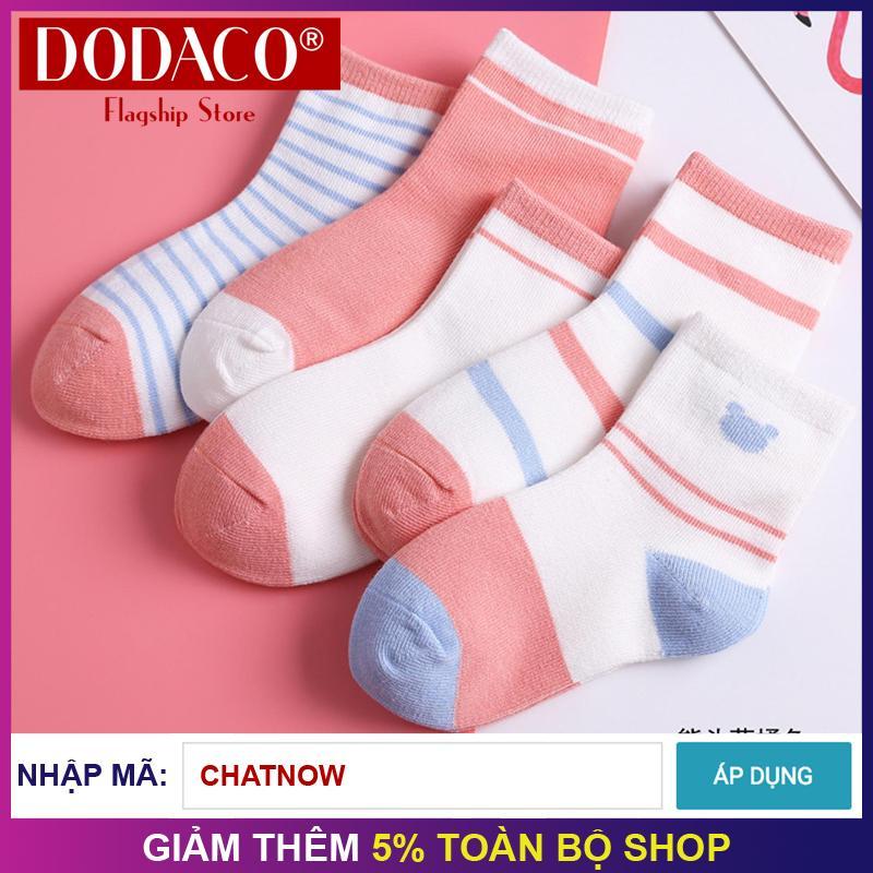 Hình ảnh Bộ 5 đôi tất trẻ em họa tiết (0 - 6 tuổi) DODACO DDC2075 - 1602 (Nhiều màu)