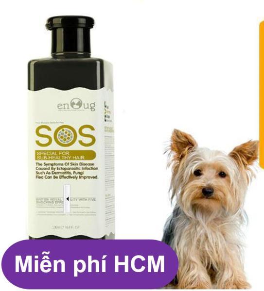 HCM-Sữa Tắm SOS cao cấp màu đen phục hồi da và lông dành cho chó. - 530ml (dùng cho mọi loại chó mèo) ( 366d)-HP10779TC