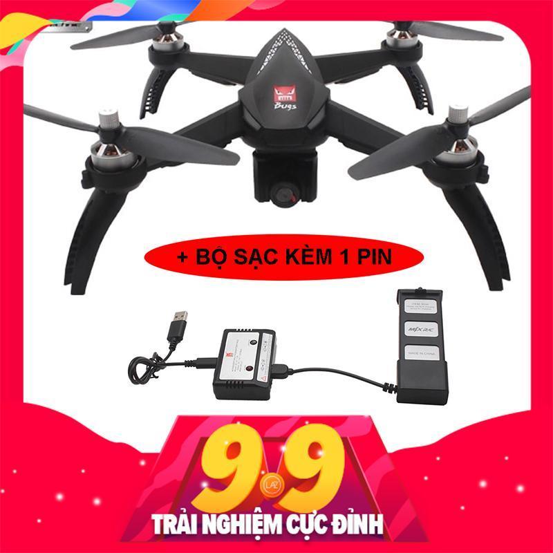 ( BỘ 2 PIN + 2 BỘ SẠC ) Máy bay Flycam MJX bugs 5W - GPS, follow me , truyền hình ảnh về điện thoại, camera 1080P xoay góc 90 độ