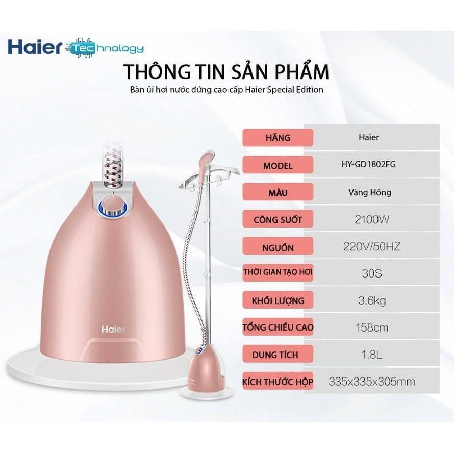 Hình ảnh Bàn là ủi hơi nước đứng Haier (model 2017)- Hàng nhập khẩu
