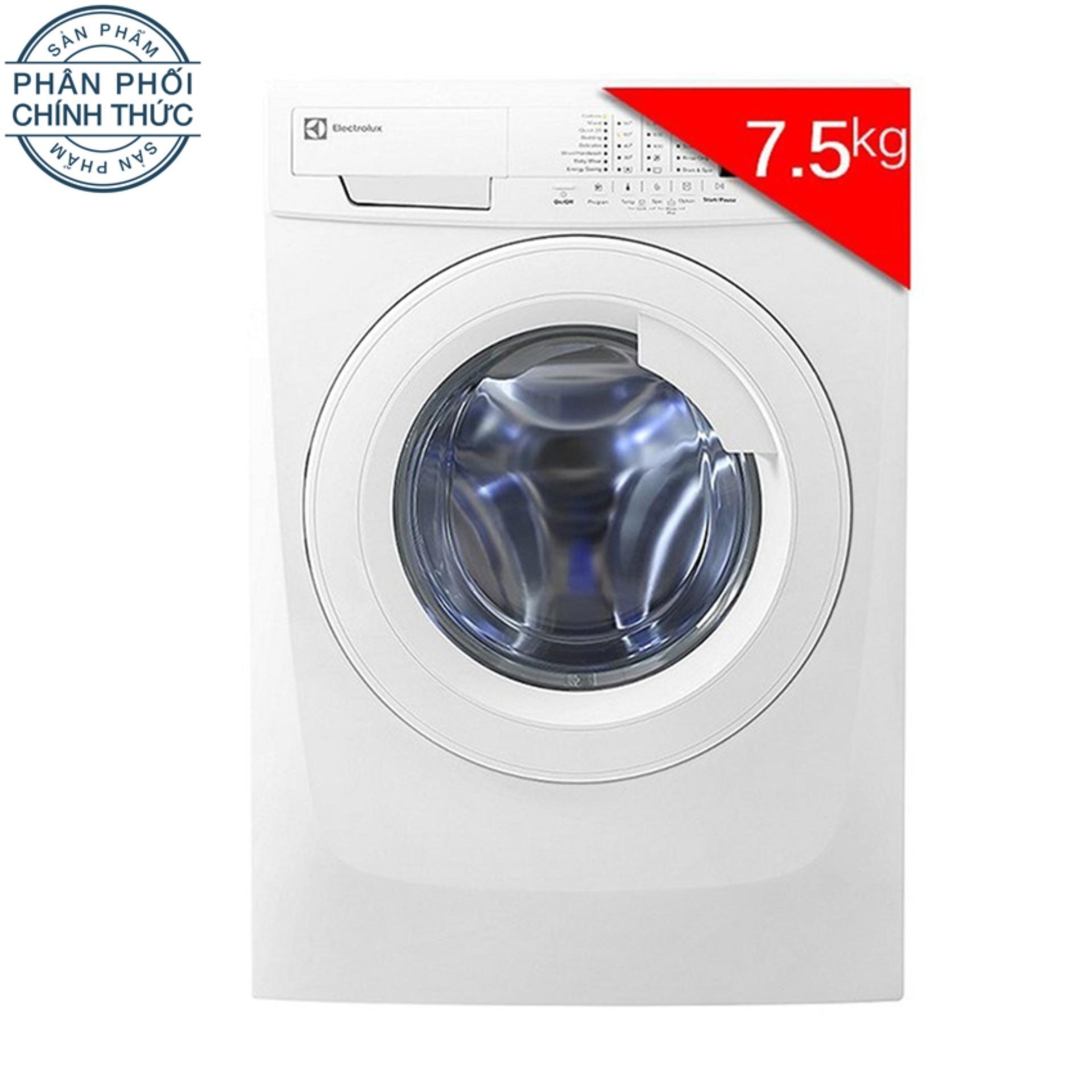 Hình ảnh Máy giặt cửa trước Electrolux EWF85743 7.5Kg (Trắng)