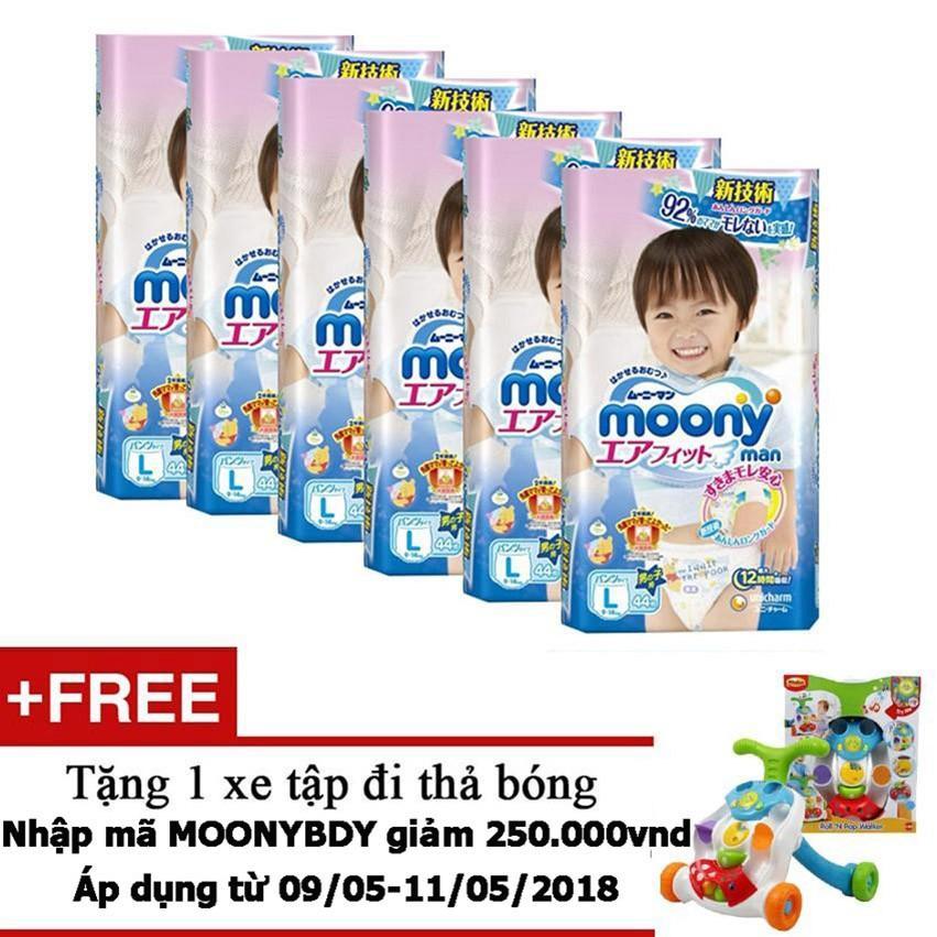 Mua Bộ 6 Ta Quần Moony L44 Boy Tặng 1 Xe Tập Đi Thả Bong Trị Gia 800 000Vnd Moony