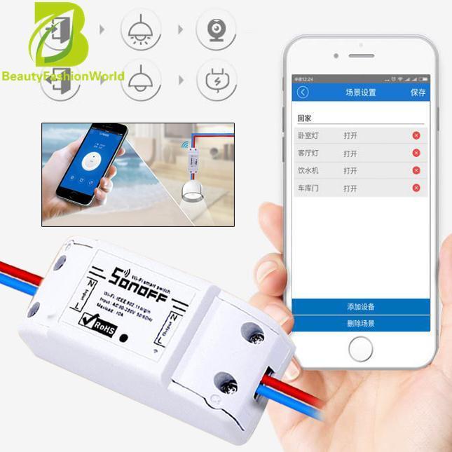 Hình ảnh Mô-đun Sonoff ITEAD Chuyển Đổi WiFi Thông Minh Điều Khiển Ổ Cắm ABS To Kiểm Soát Nhà TỰ LÀM trắng-Quốc Tế