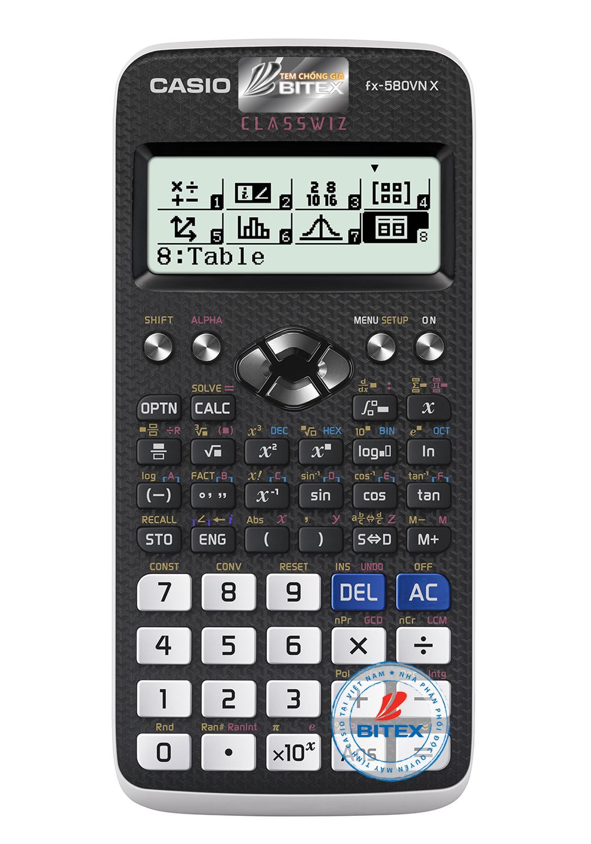 Mua Máy tính casio FX 580VNX tặng kèm túi B.Bag