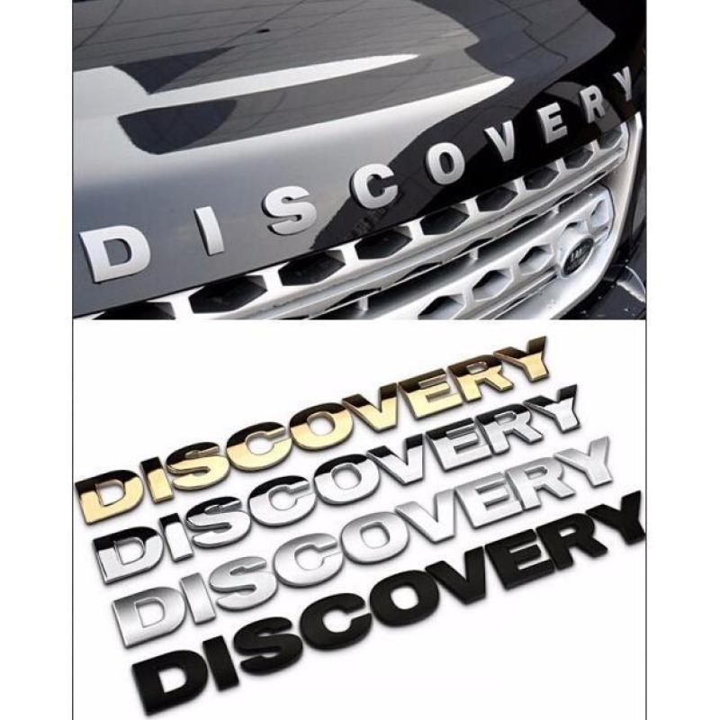 Chữ DISCOVERY nổi chrome dán ô tô - Logo DISCOVERY - Decal Ô tô (Màu Chrome Vàng)