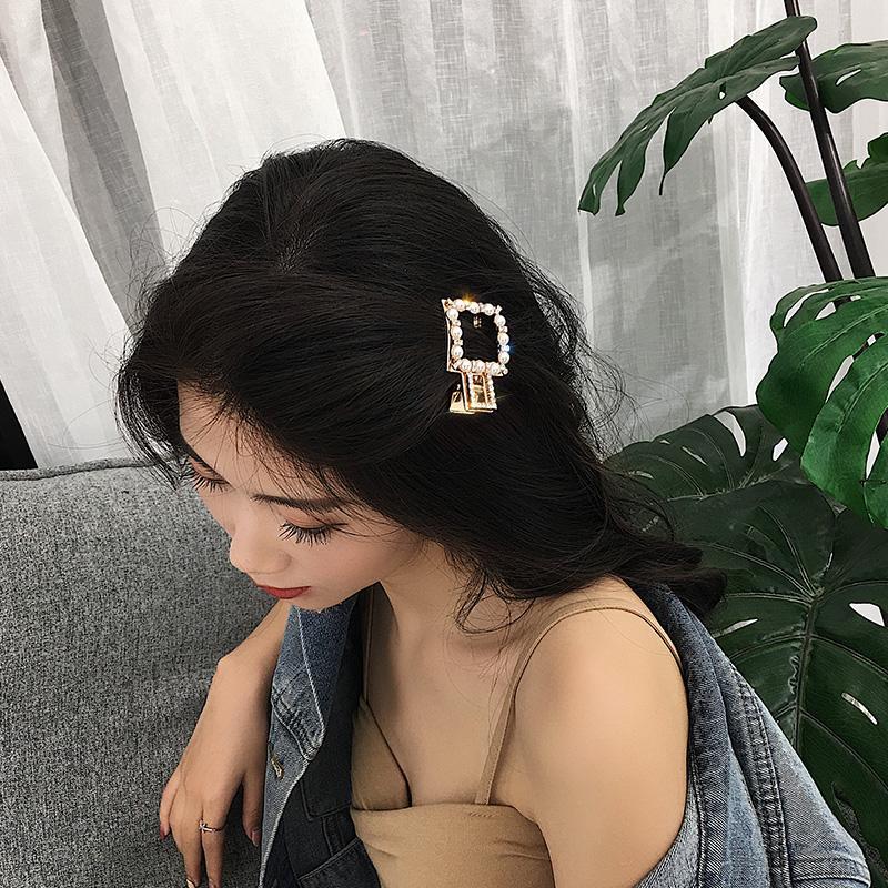 Nổi Danh Trên Mạng Kẹp Tóc Nữ 2018 Mẫu Mới Thủy Triều Ngọc Trai Kẹp Tóc Người Lớn Hàn Quốc Liu Kẹp Kẹp Chữ U Mũ Cô Dâu Phụ Kiện Trang Trí Tóc