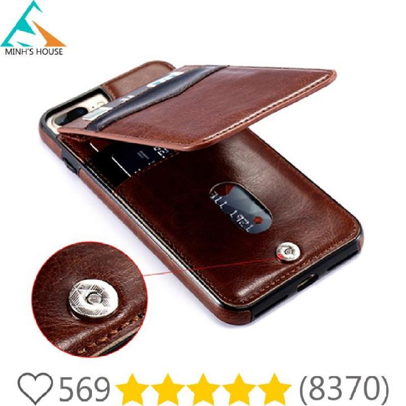 Giá Bao da kiêm ví đựng tiền, thẻ, card.. cho các dòng IPhone Plus 6,7,8 rất tiện lợi Minhs House