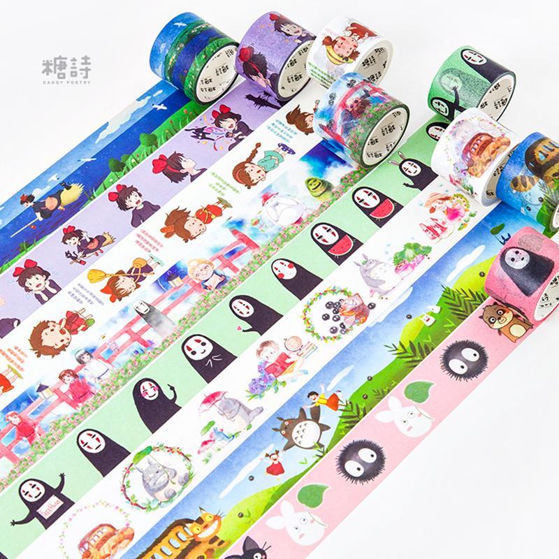 Mua 3rolls Cute Kawaii Japanese Cartoon Characters Decorative Adhesive Tape Washi Tape DIY Scrapbooking Masking Tape School Office Supply - intl