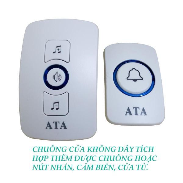 Chuông cửa không dây đa năng tích hợp được ATA AT-916 - có 2 kiểu nút nhấn để lựa chọn