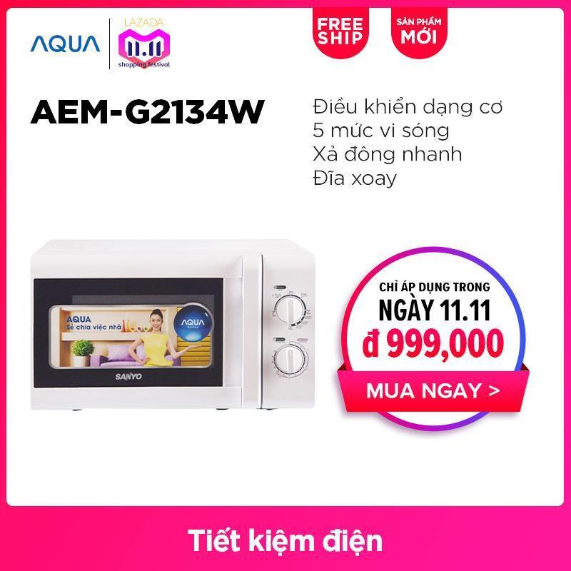 Lò vi sóng AQUA AEM-G2134W - Hàng phân phối chính hãng