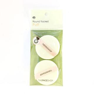 Set 2 Bông phấn The Face Shop Round flocked Puff thumbnail