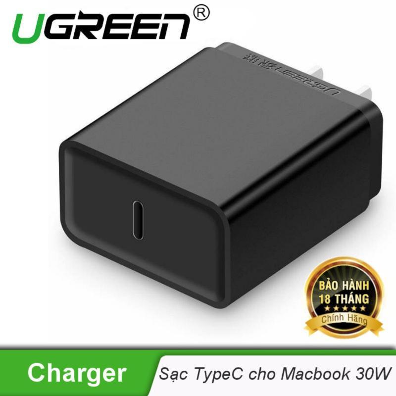Sạc USB type C cho Macbook 30W chuẩn chân cắm dẹt kiểu USA UGREEN CD127 20759 - Hãng phân phối chính thức