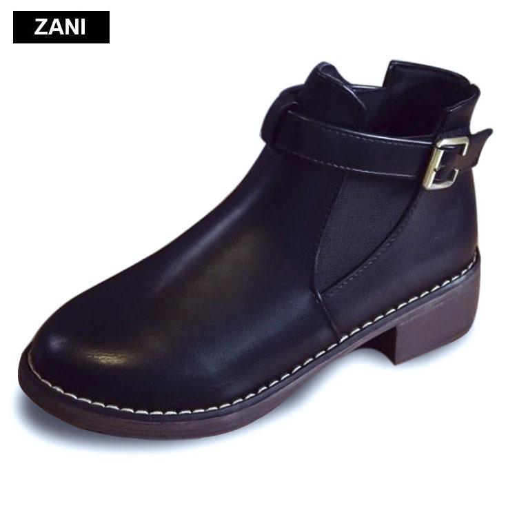 Bán Giay Chelsea Boots Nữ Co Đai Zani Zw3758B Đen Hà Nội Rẻ