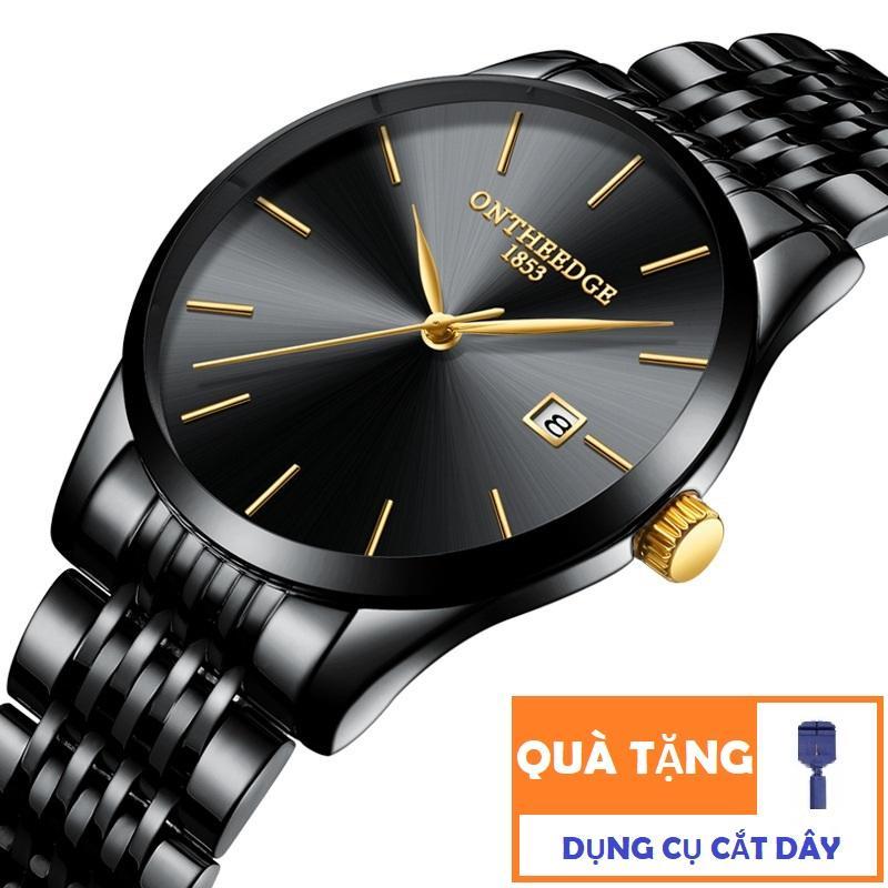 Đồng hồ nam dây thép không gỉ Ontheedge 023 sang trọng (Fullbox tặng dụng cụ cắt dây và pin) bán chạy