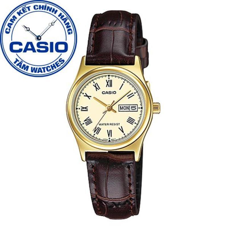 Đồng hồ nữ dây da Casio Standard Anh Khuê LTP-V006GL-9BUDF