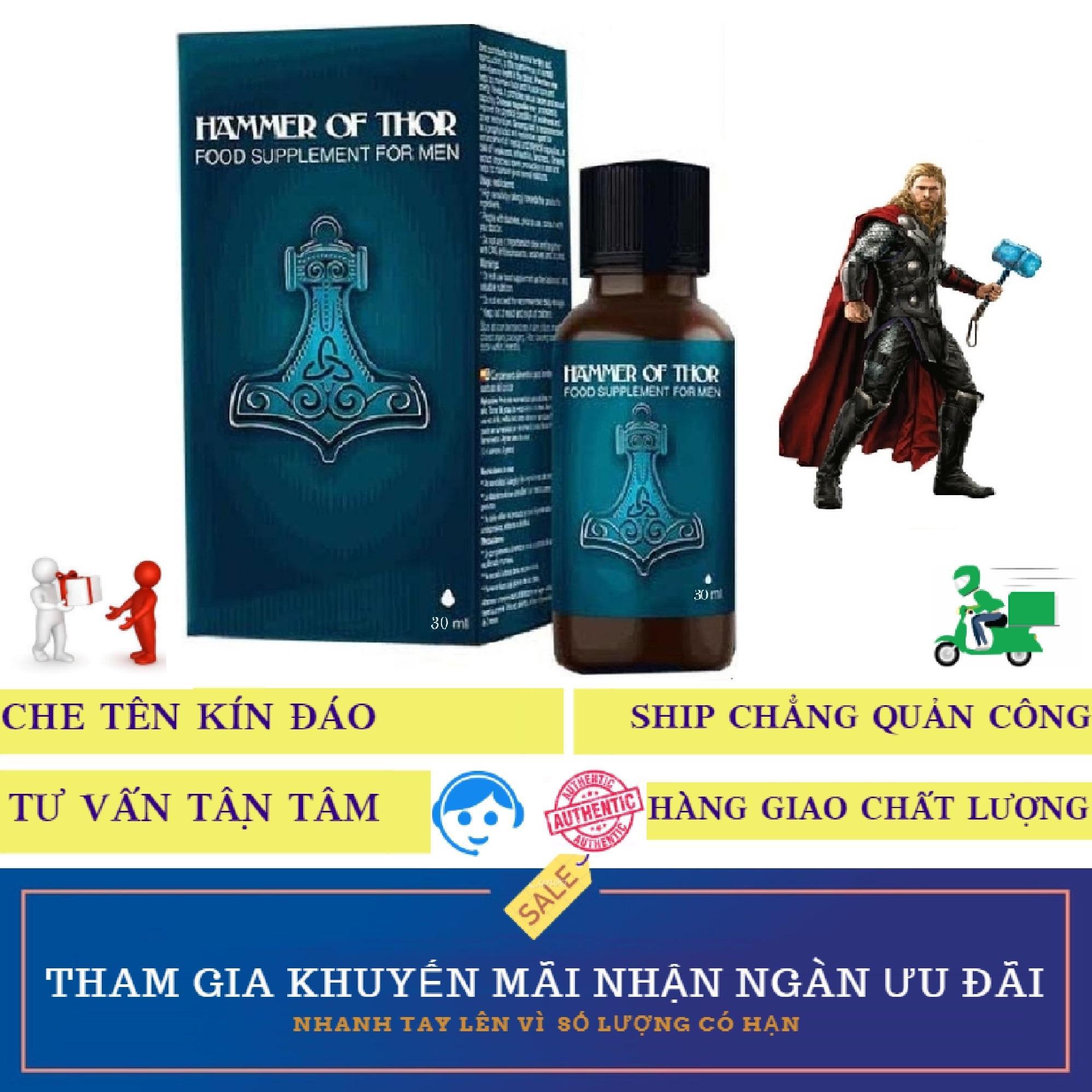 Giọt dưỡng chất Hammer-Of-Thor kéo dài thời gian, tăng sức khỏe sức bền nam giới (chai 30ml)