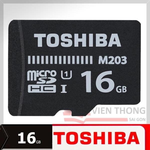 Thẻ nhớ MicroSDHC Toshiba M203 UHS-I U1 16GB 100MB/s (Đen) - Hãng phân phối chính thức